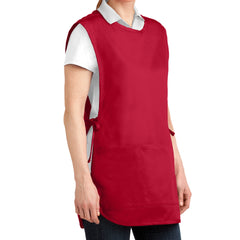 Easy Care Cobbler Apron with Stain Release - Red