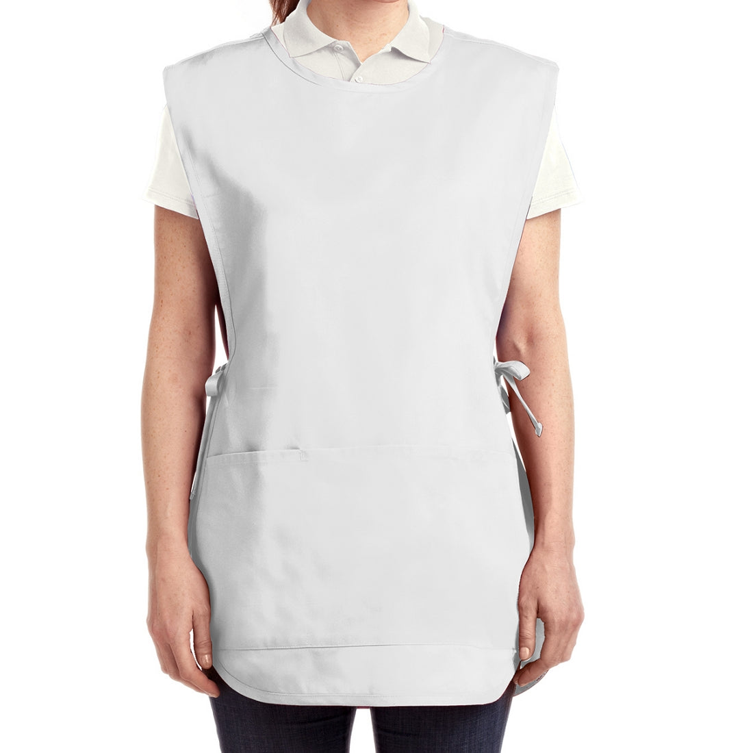 Easy Care Cobbler Apron with Stain Release - White