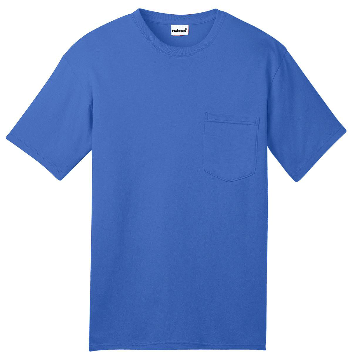 Mafoose Men's All American Tee Shirt with Pocket Royal-Front