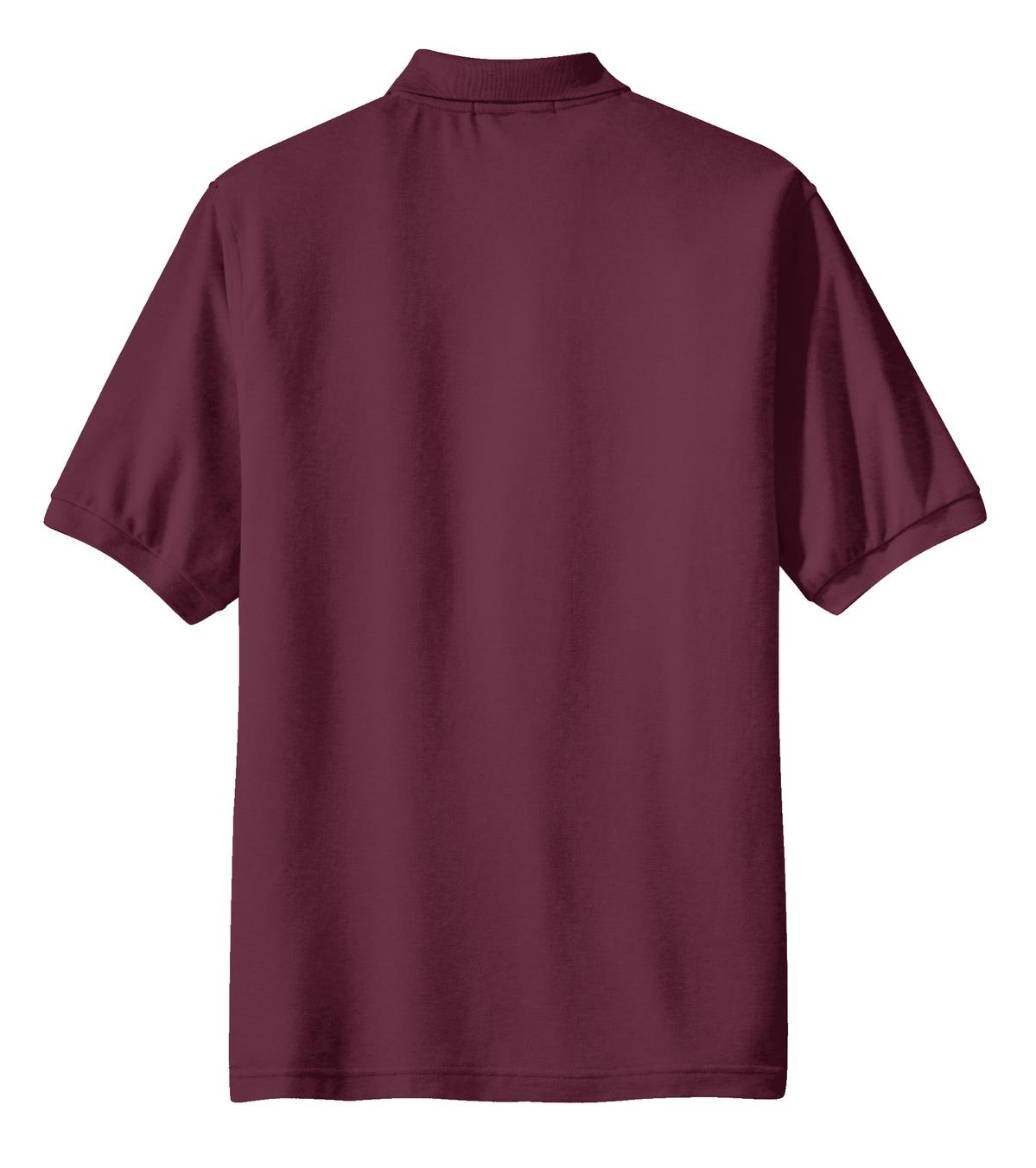 Mafoose Men's Silk Touch Polo with Pocket Burgundy-Back
