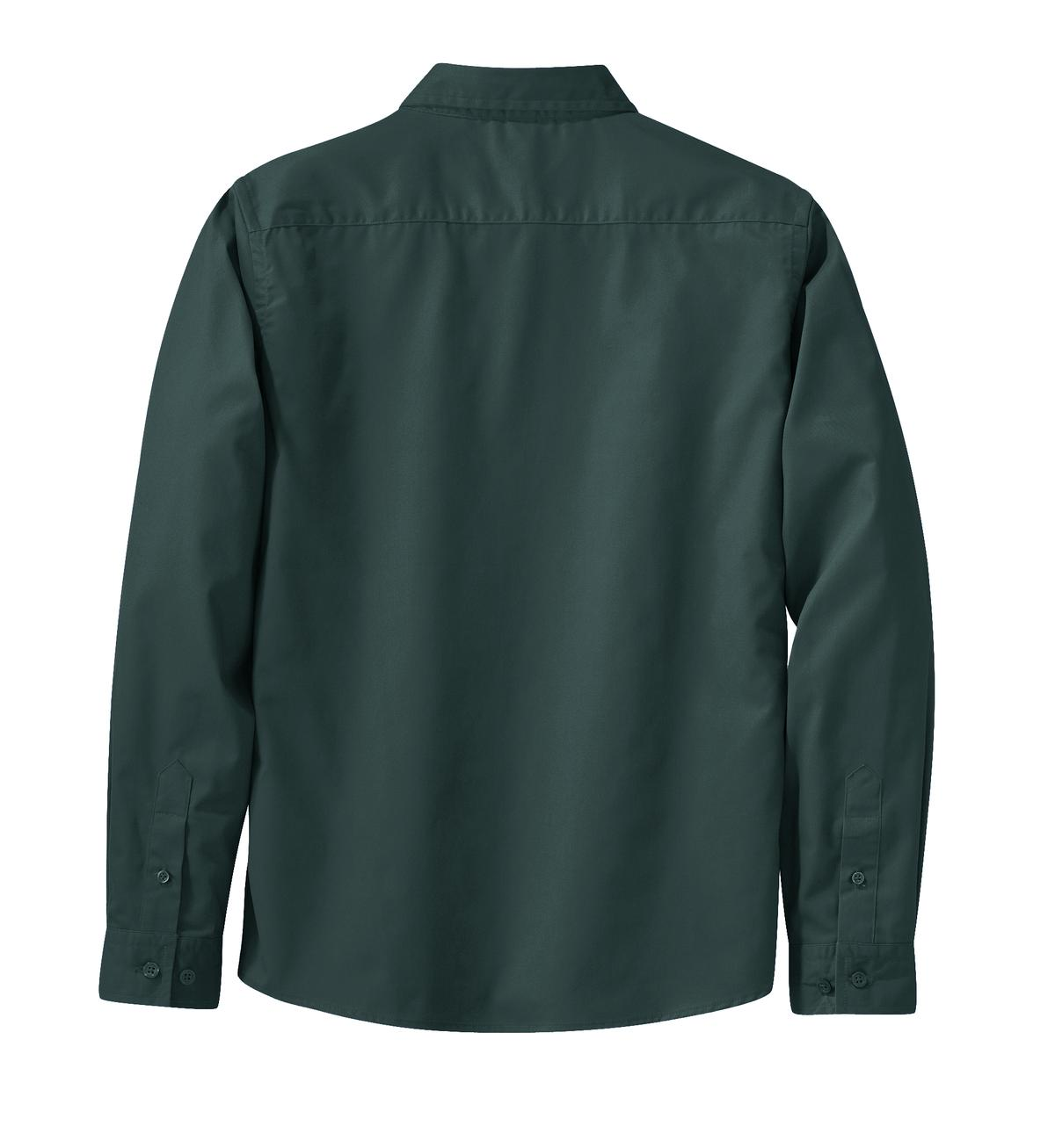 Mafoose Women's Long Sleeve Easy Care Shirt Dark Green/Navy-Back