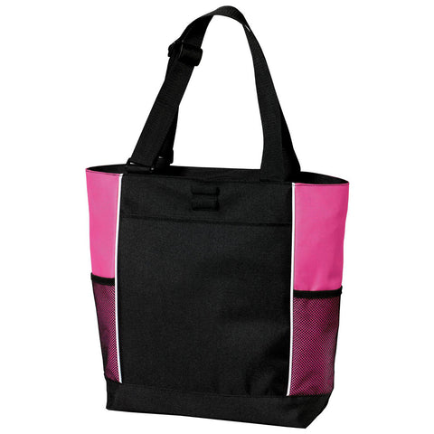 Mafoose Panel Tote Bag Black/ Tropical Pink