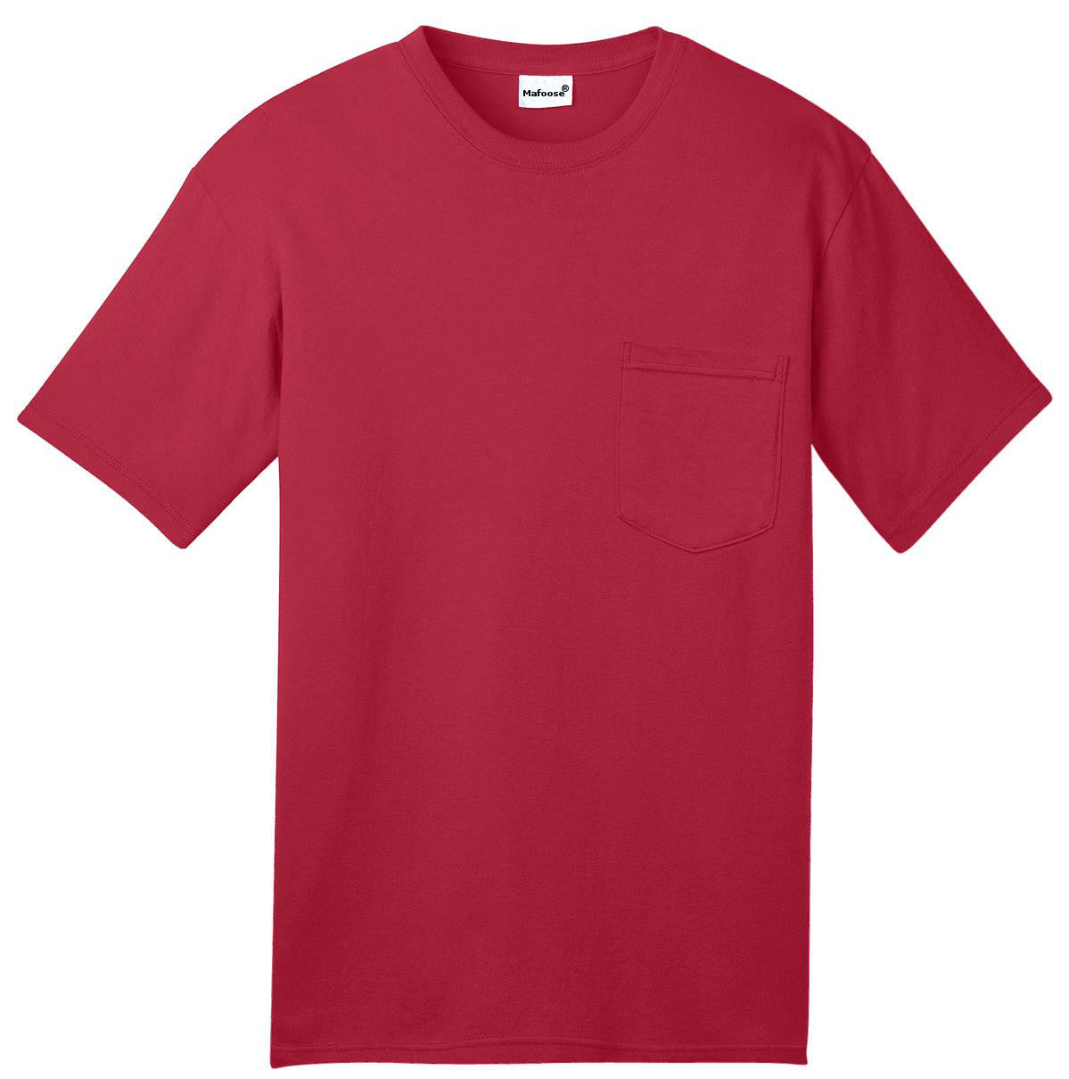 Mafoose Men's All American Tee Shirt with Pocket Red-Front