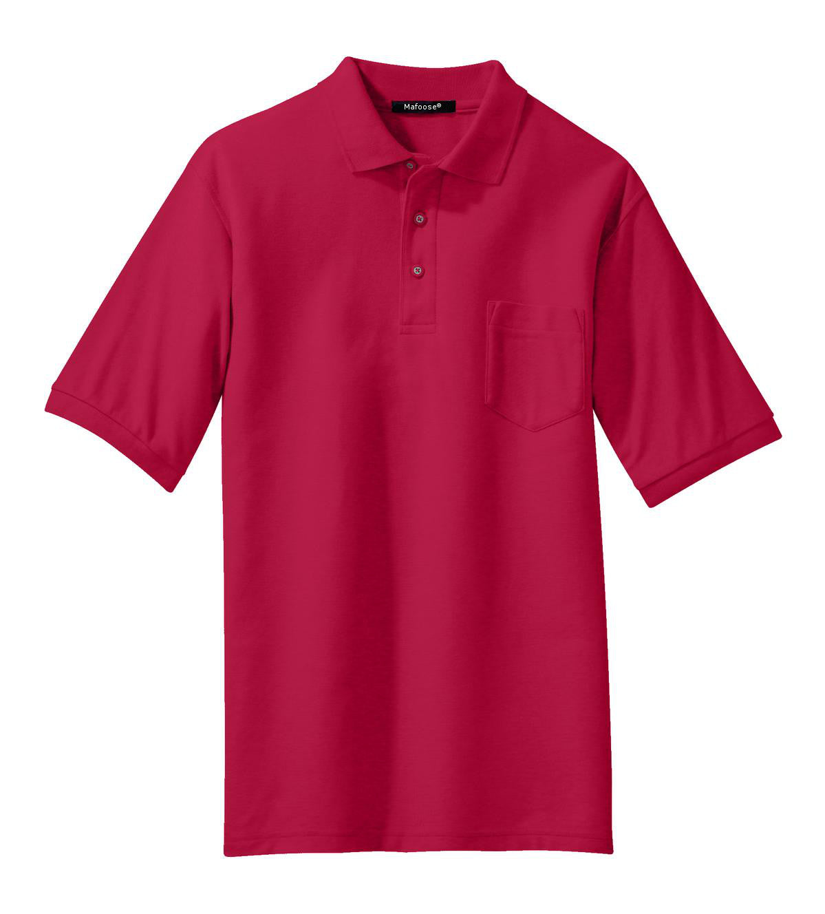 Mafoose Men's Silk Touch Polo with Pocket Red-Front