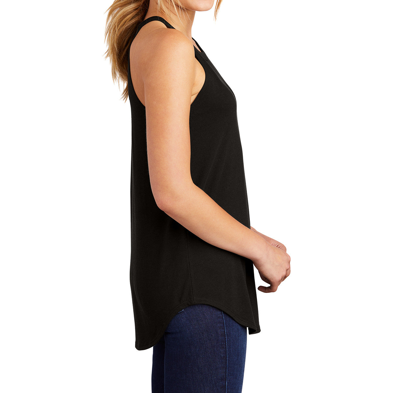 Women's Perfect Tri Rocker Tank – Black