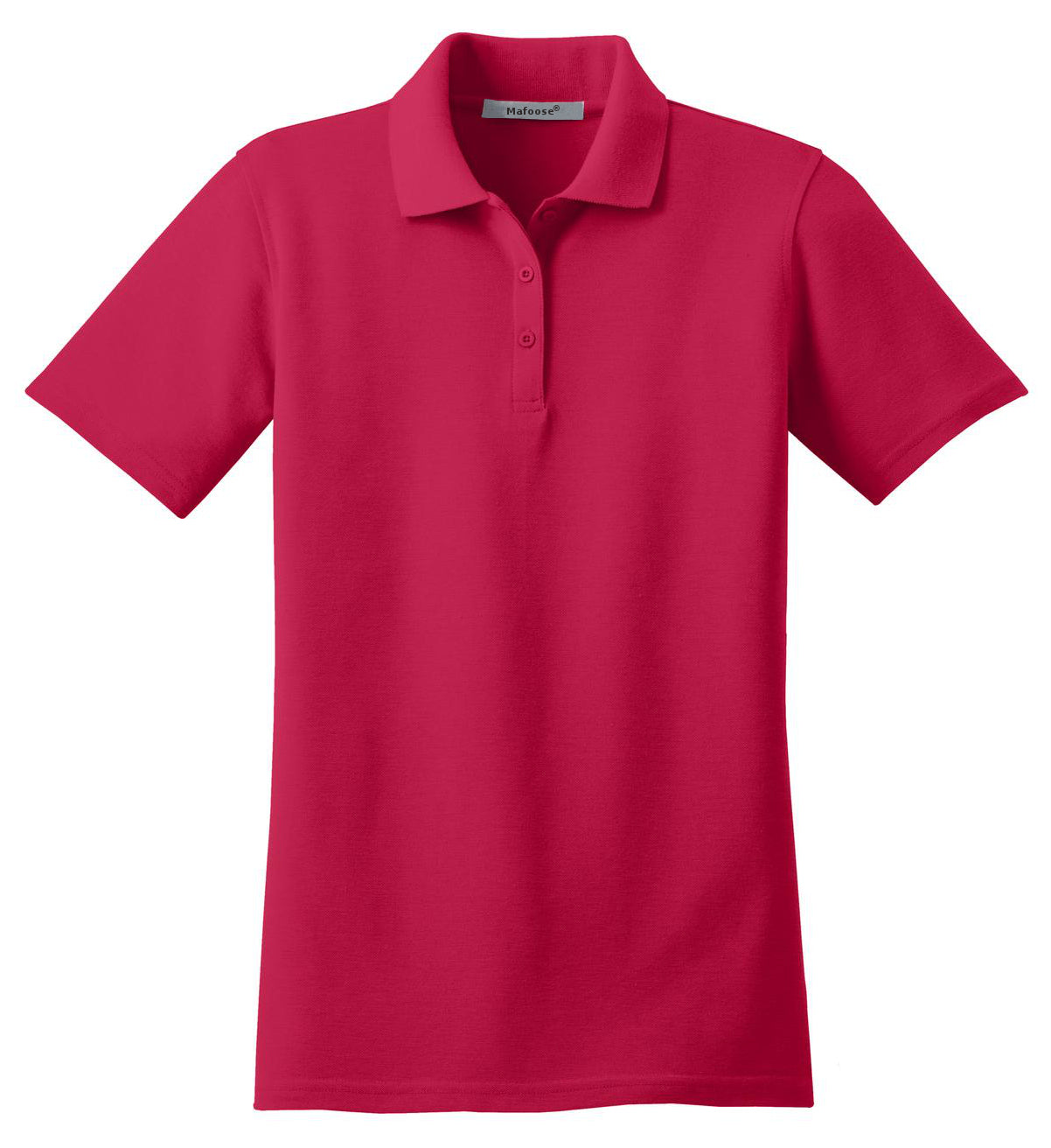Mafoose Women's Stain Resistant Polo Shirt Red-Front