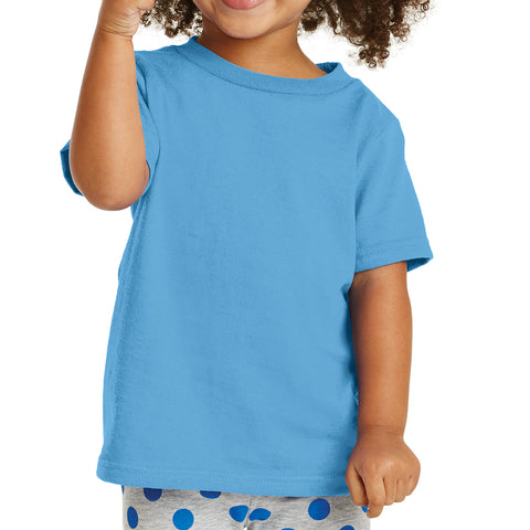 Toddler Core Cotton Tee - Aquatic Blue