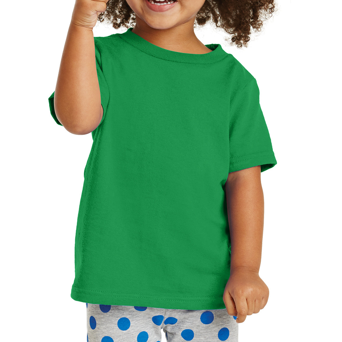Toddler Core Cotton Tee - Clover Green
