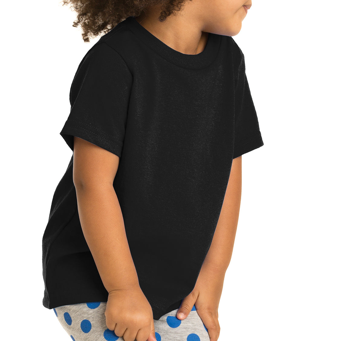 Toddler Core Cotton Tee - Jet Black
