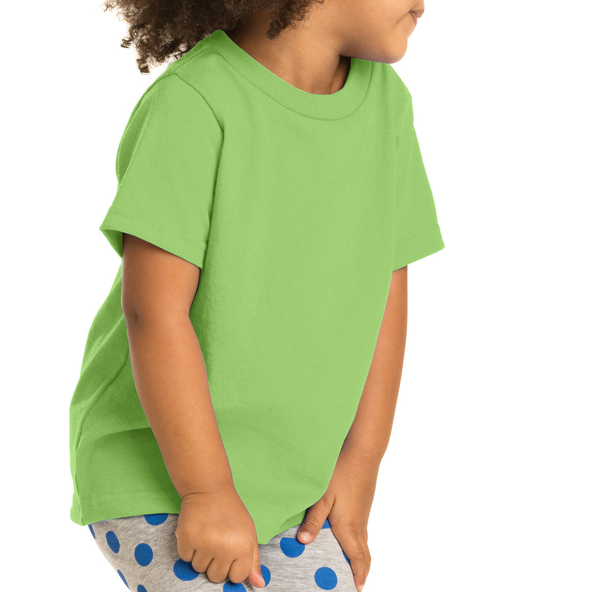 Toddler Core Cotton Tee - Lime