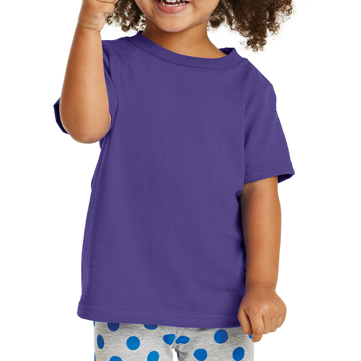 Toddler Core Cotton Tee - Purple