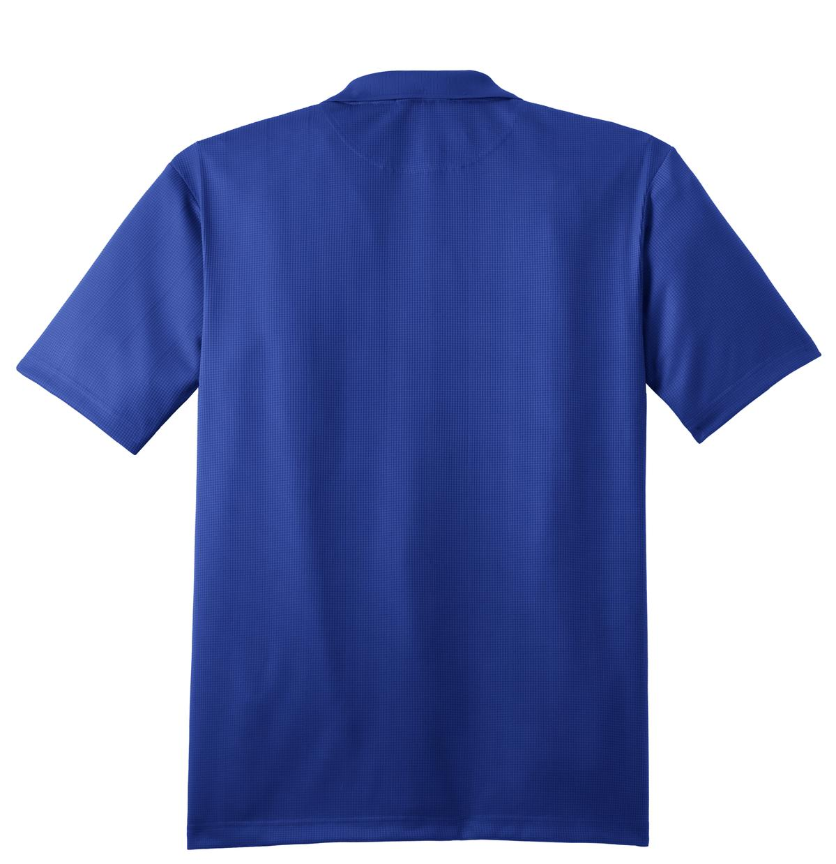 Mafoose Men's Performance Fine Jacquard Polo Hyper Blue-Back