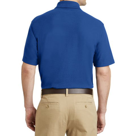 Men's EZCotton Pique Pocket Polo Shirt Cobalt Blue