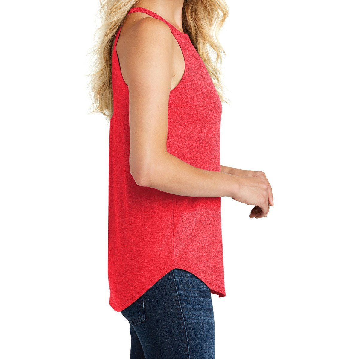 Women's Perfect Tri Rocker Tank – Red Frost