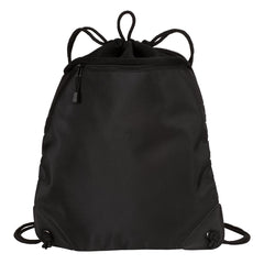 Drawcord Zipper Cinch Pack Black