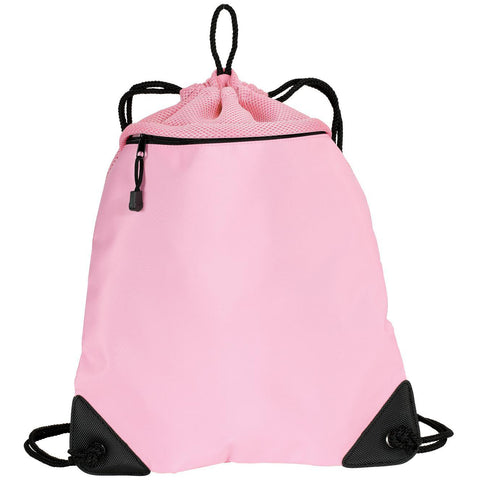 Drawcord Zipper Cinch Pack Bright Pink