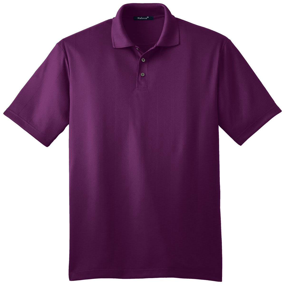 Mafoose Men's Performance Fine Jacquard Polo Violet Purple-Front