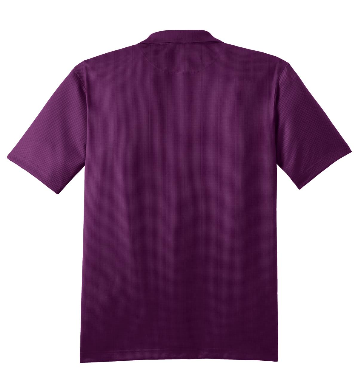 Mafoose Men's Performance Fine Jacquard Polo Violet Purple-Back