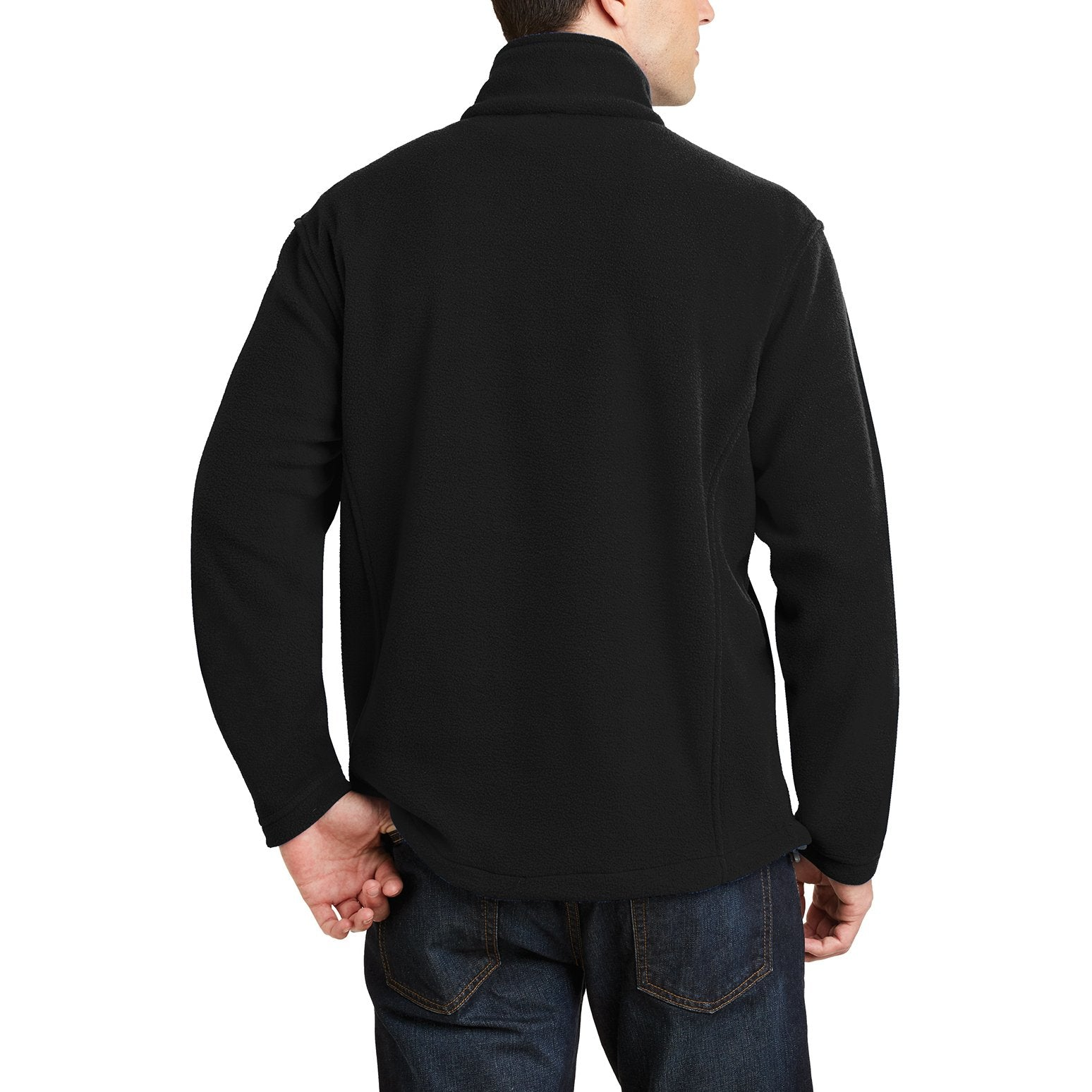 Men's Long Sleeve Value Fleece 1/4-Zip Pullover Black