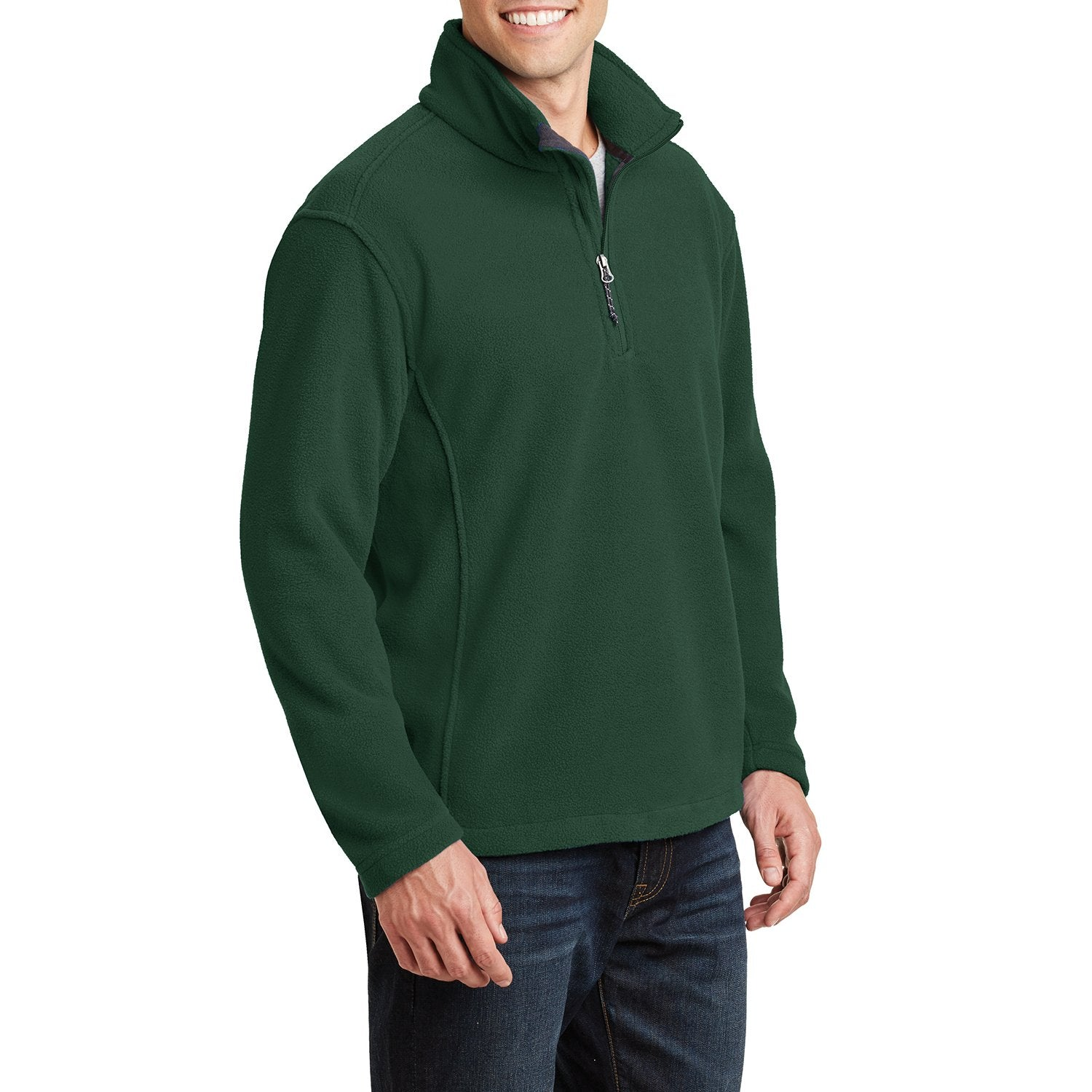 Men's Long Sleeve Value Fleece 1/4-Zip Pullover Forest Green