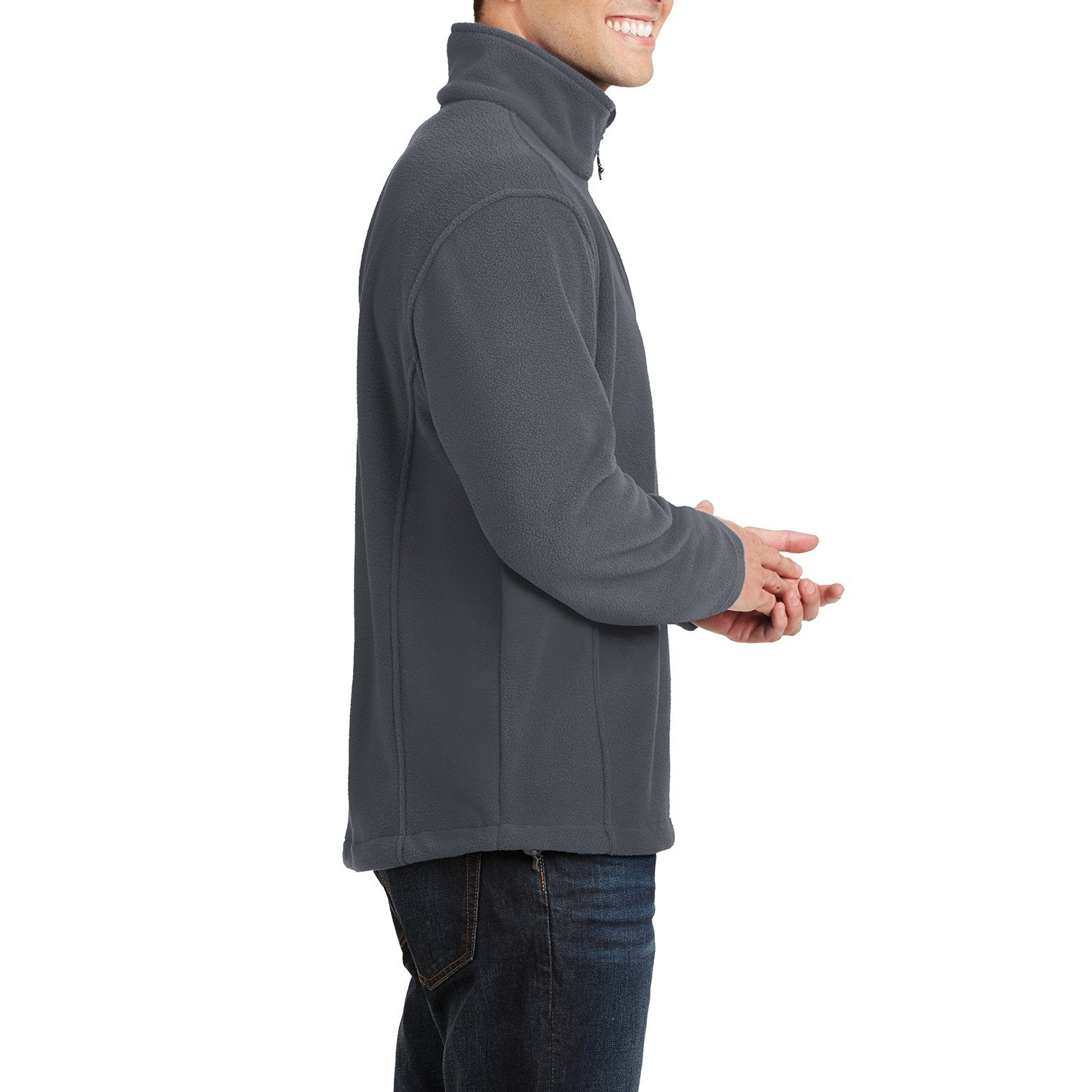 Men's Long Sleeve Value Fleece 1/4-Zip Pullover Iron Grey