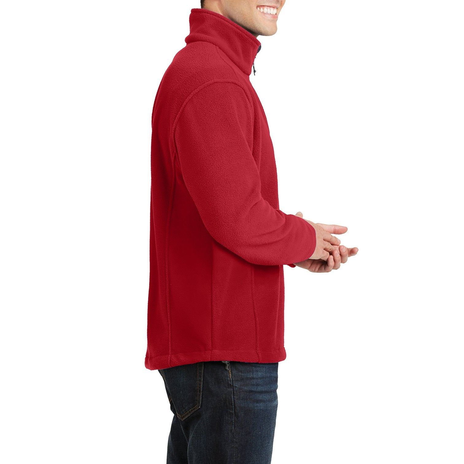 Men's Long Sleeve Value Fleece 1/4-Zip Pullover True Red