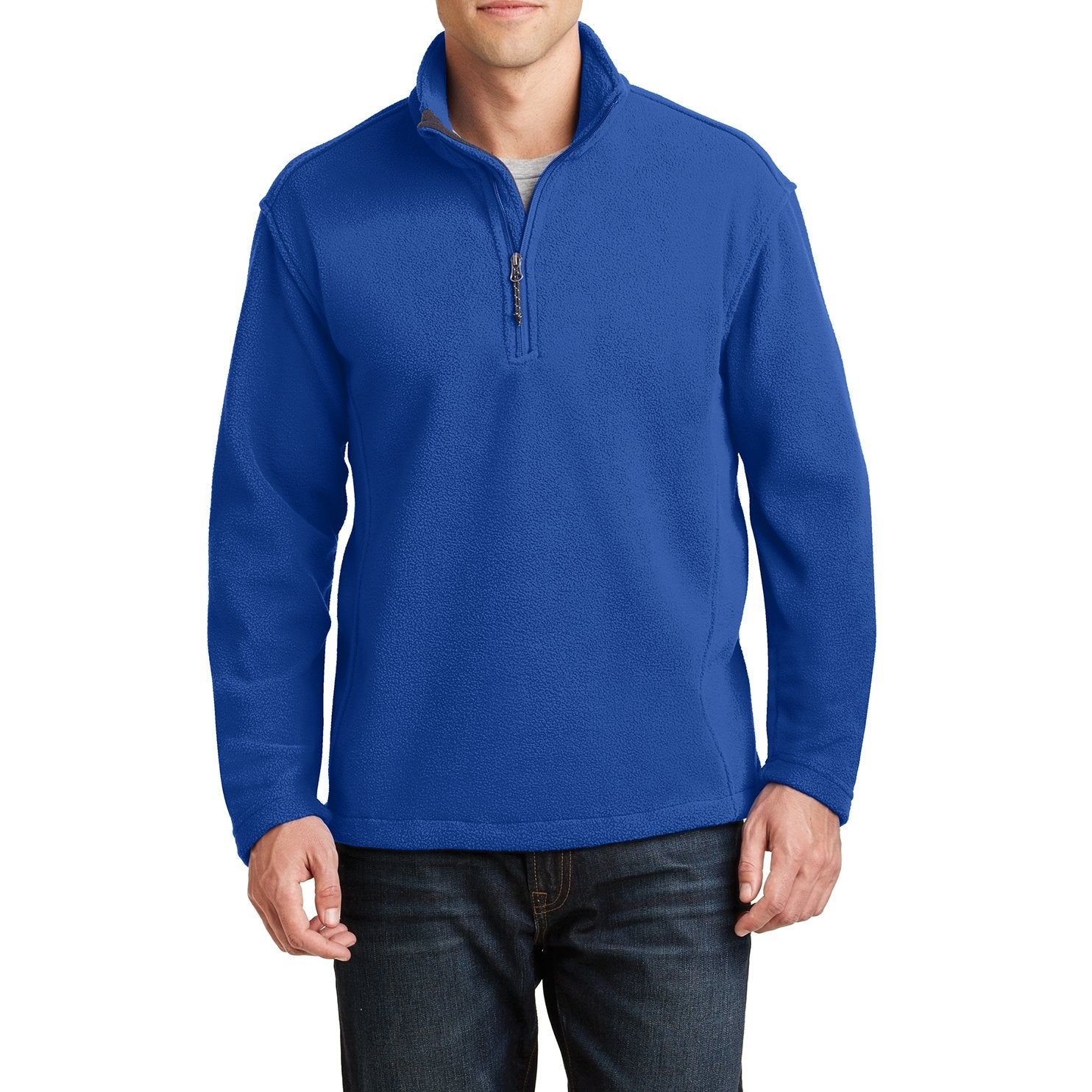 Men's Long Sleeve Value Fleece 1/4-Zip Pullover True Royal