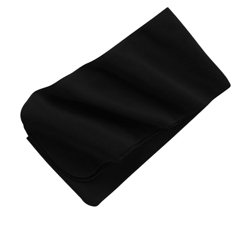 Extra Long Fleece Scarf - Black
