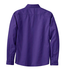 Mafoose Women's Long Sleeve Easy Care Shirt Purple/Light Stone-Back