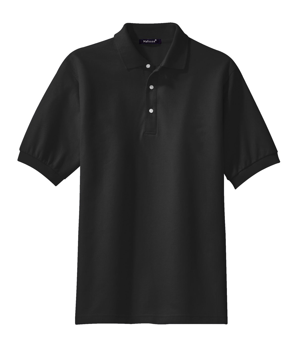 Mafoose Men's 100% Pima Cotton Polo Shirt Black-Front