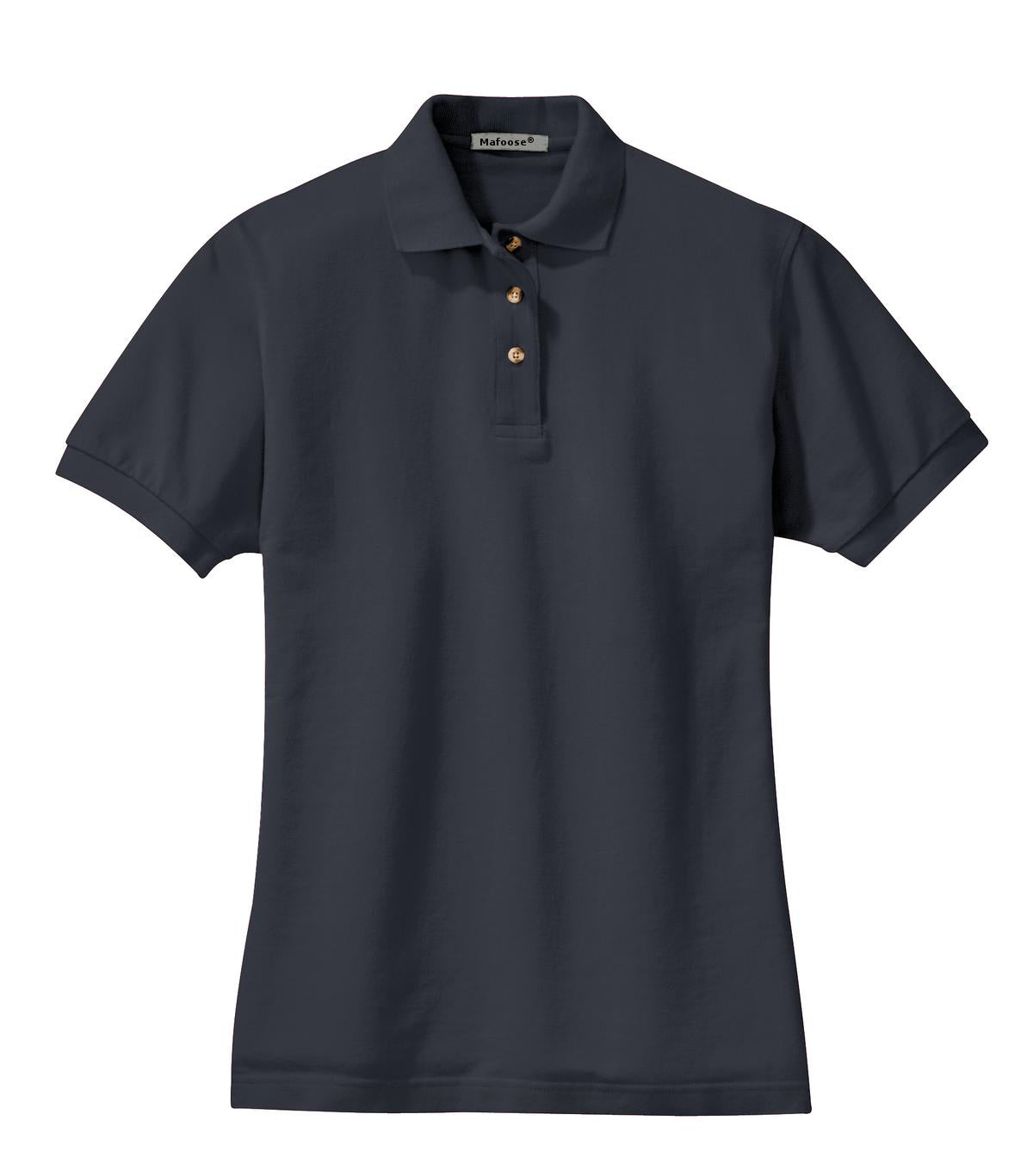 Mafoose Women's Heavyweight Cotton Pique Polo Shirt Classic Navy-Front