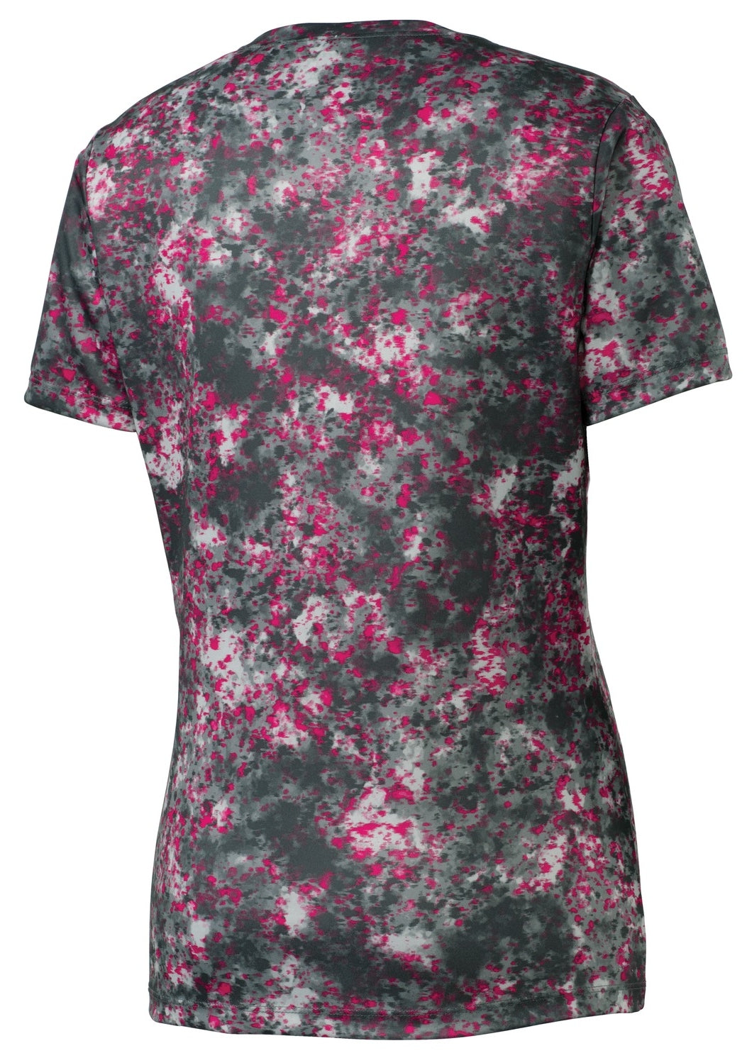 Mafoose Ladies Mineral Freeze Scoop Neck Tee Shirt Pink Raspberry-Back