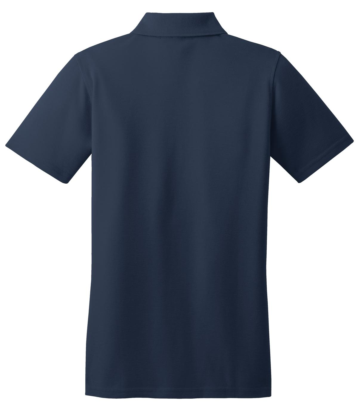 Mafoose Women's Stain Resistant Polo Shirt Navy-Back