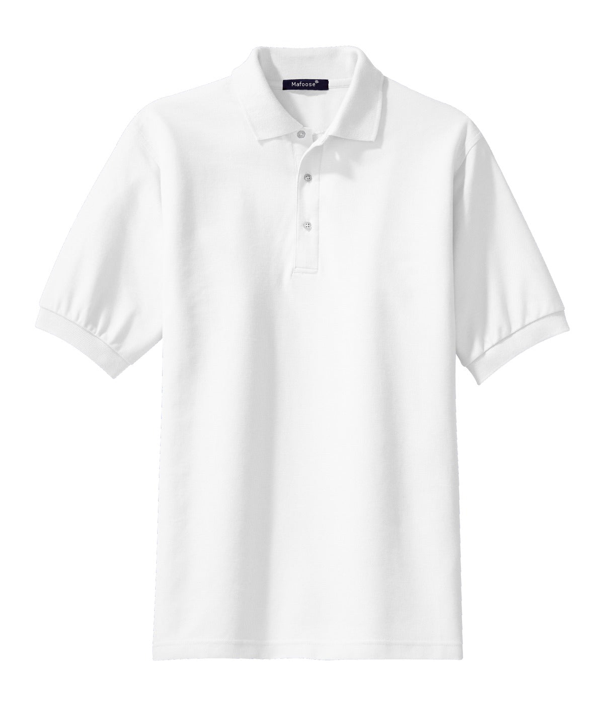 Mafoose Men's 100% Pima Cotton Polo Shirt White-Front