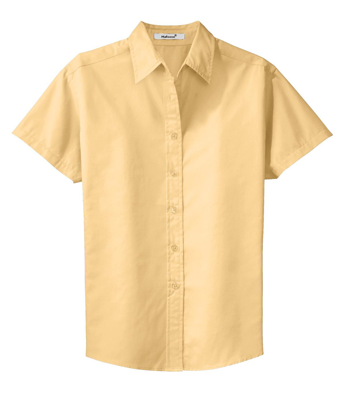 Mafoose Women's Comfortable Short Sleeve Easy Care Shirt Yellow-Front