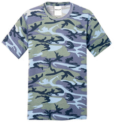 Mafoose Men's 5.4-oz 100% Cotton Tee Shirt Woodland Blue Camo-Front