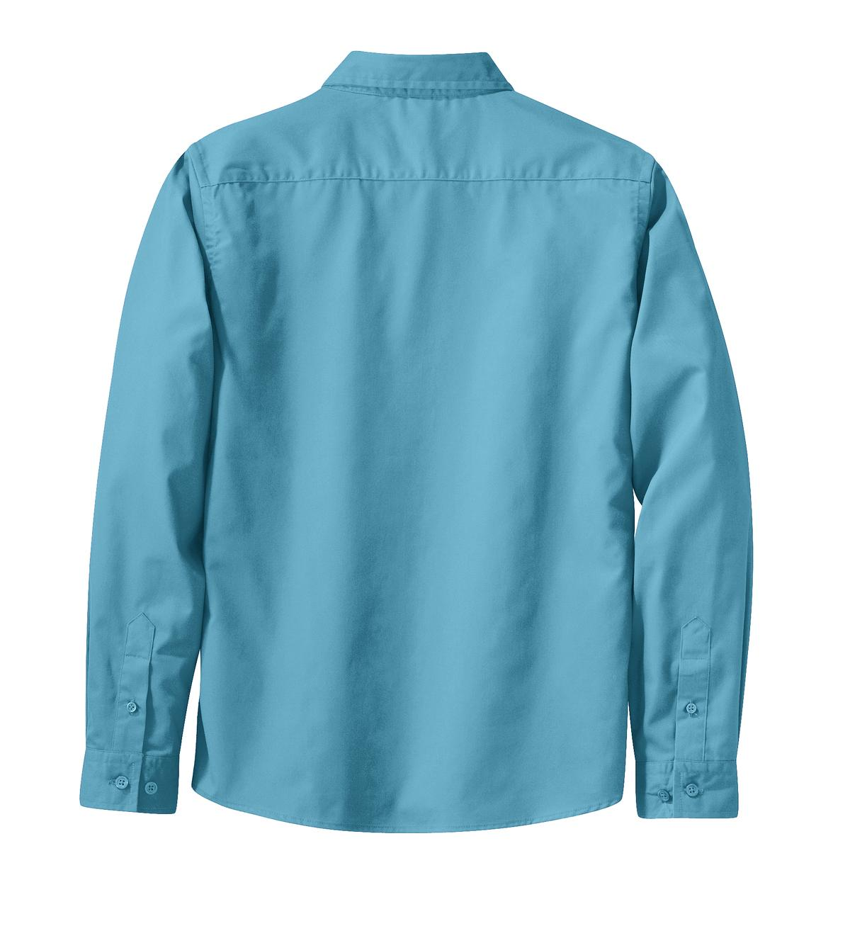 Mafoose Women's Long Sleeve Easy Care Shirt Maui Blue-Back