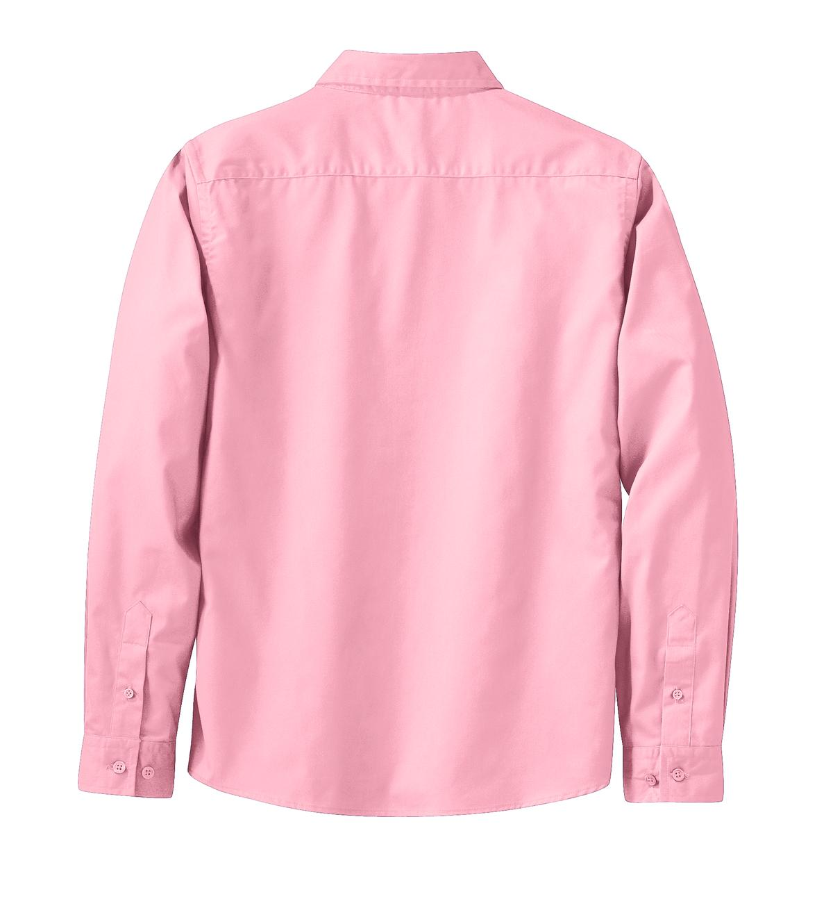 Mafoose Women's Long Sleeve Easy Care Shirt Light Pink-Back