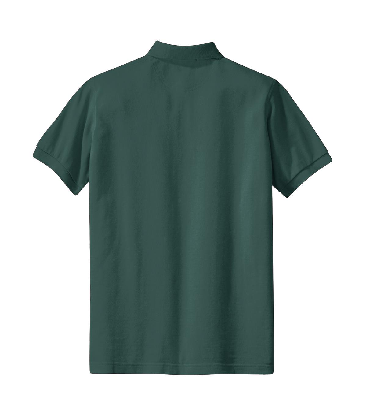 Mafoose Women's Heavyweight Cotton Pique Polo Shirt Dark Green-Back