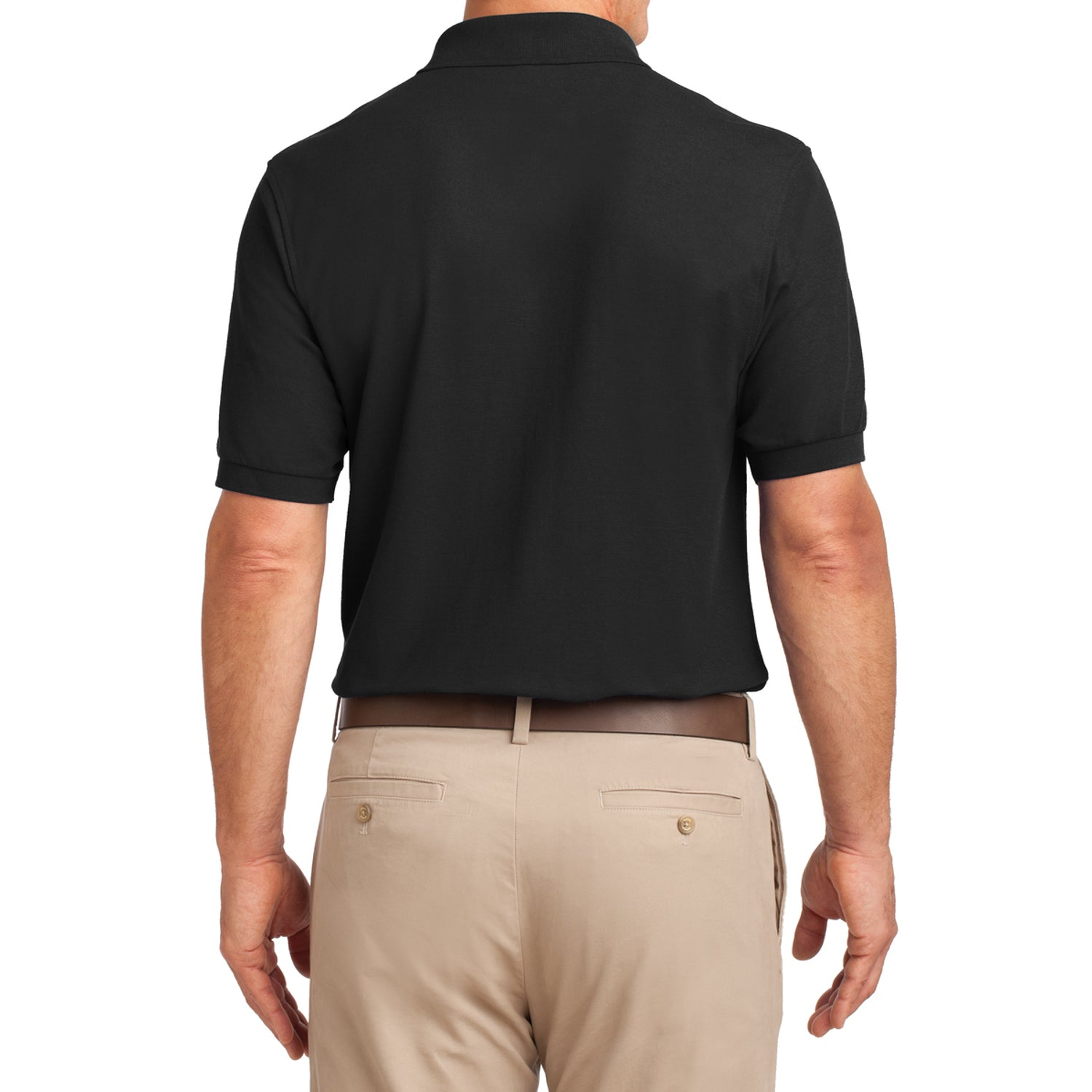 Mafoose Men's Silk Touch Polo with Pocket Black-Back