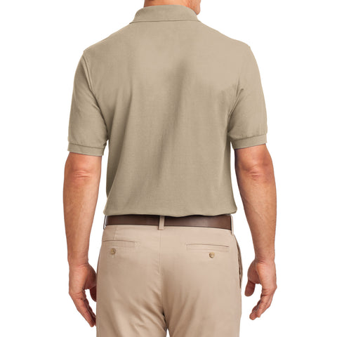 Men's Silk Touch Polo with Pocket Shirt Stone