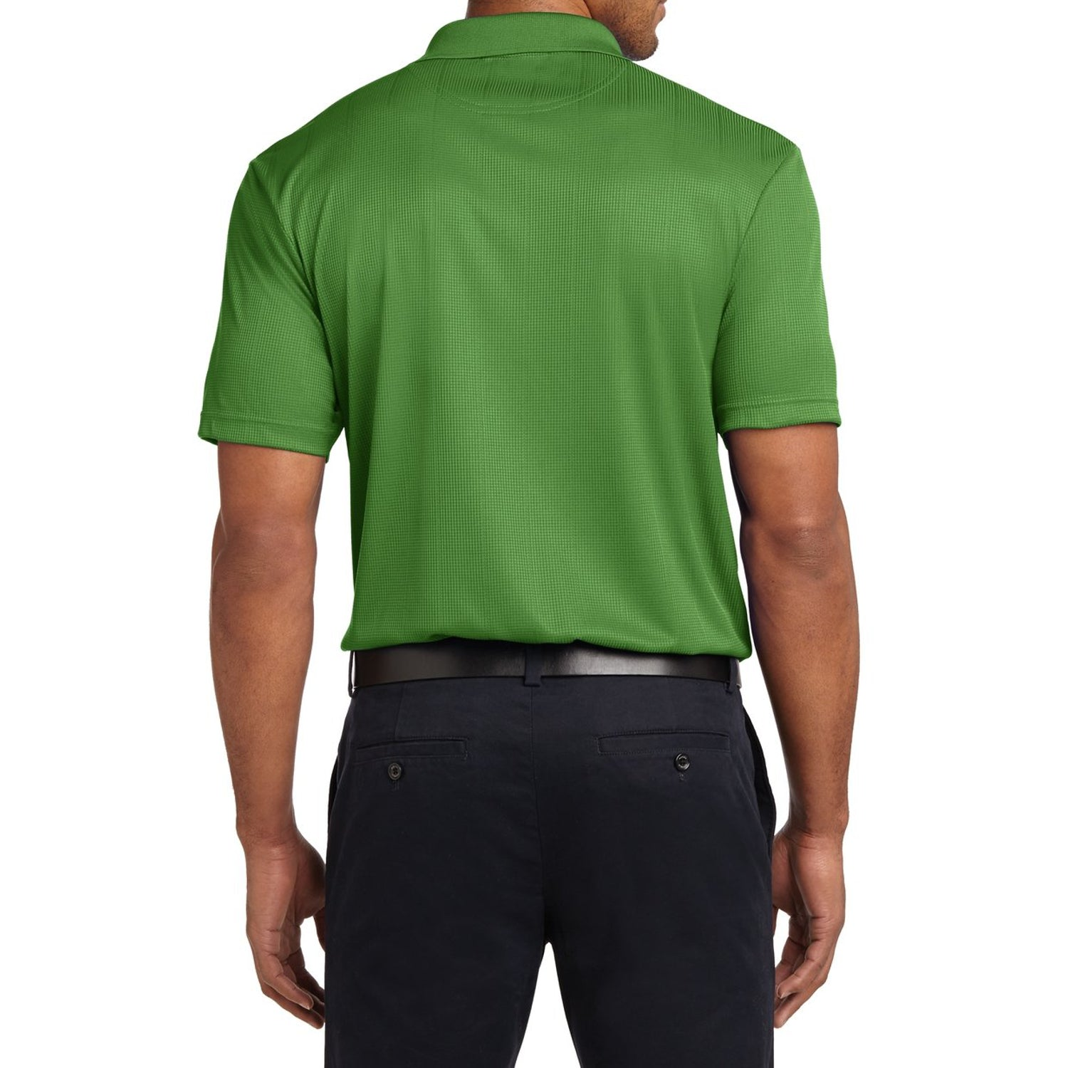 Mafoose Men's Performance Fine Jacquard Polo Vine Green-Back