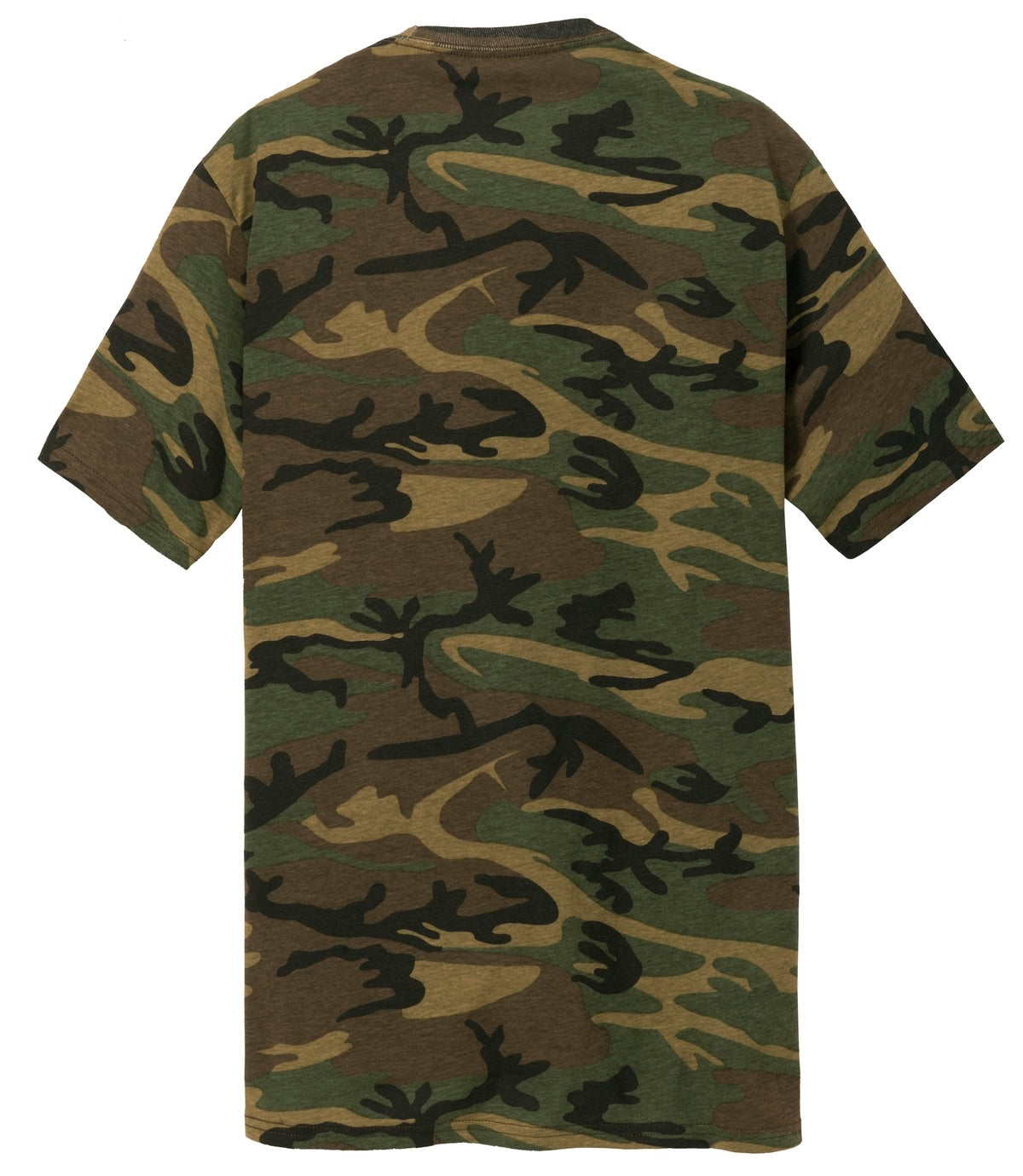 Mafoose Men's 5.4-oz 100% Cotton Tee Shirt Military Camo-Back