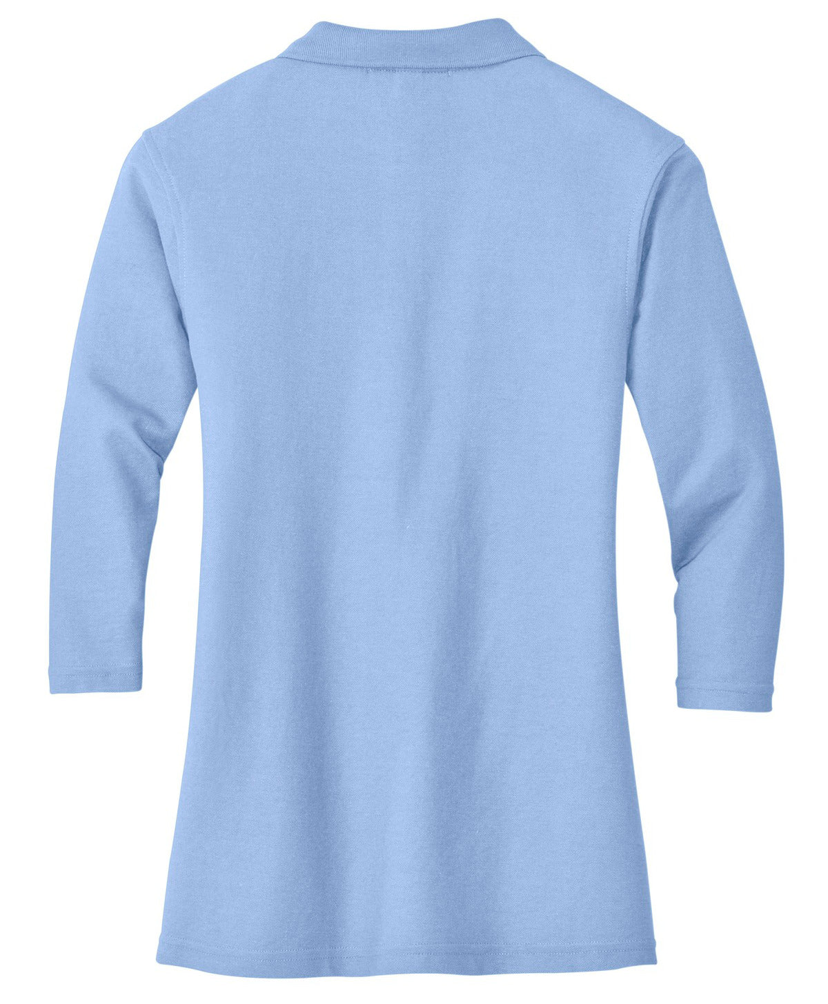 Mafoose Women's Silk Touch ¾ Sleeve Polo Shirt Light Blue-Back