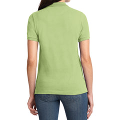Mafoose Women's Heavyweight Cotton Pique Polo Shirt Pistachio-Back