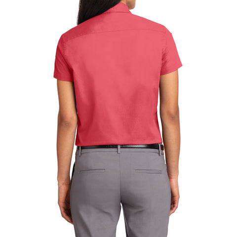 Mafoose Women's Comfortable Short Sleeve Easy Care Shirt Hibiscus-Back