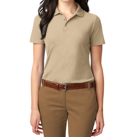 Mafoose Women's Stain Resistant Polo Shirt Stone-Front