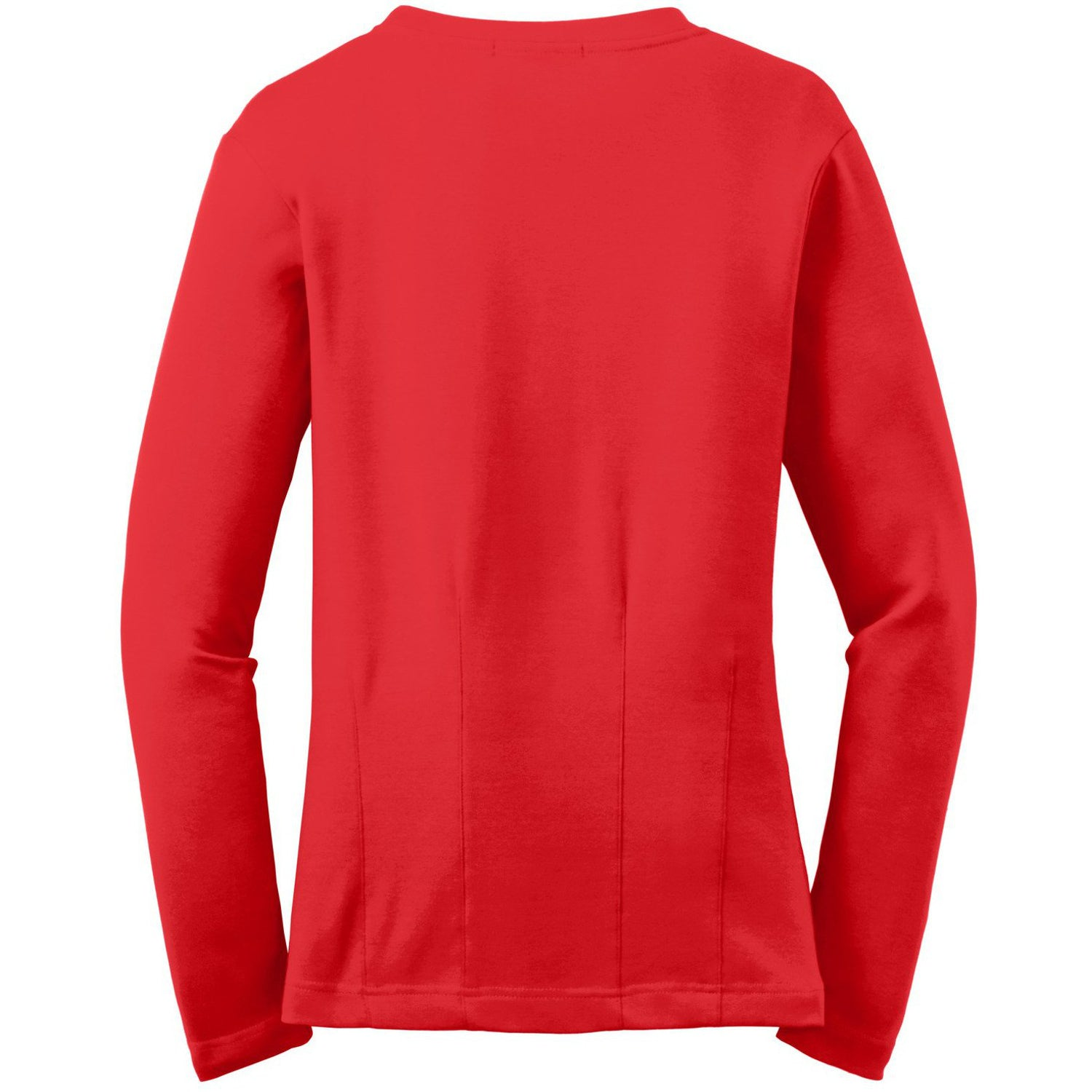 Mafoose Women's Stretch Cotton Cardigan Scarlet Red-Back