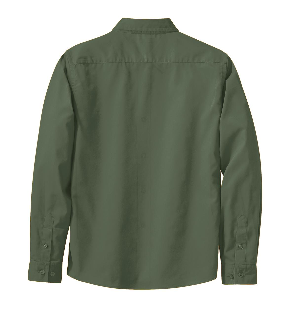 Mafoose Women's Long Sleeve Easy Care Shirt Clover Green-Back