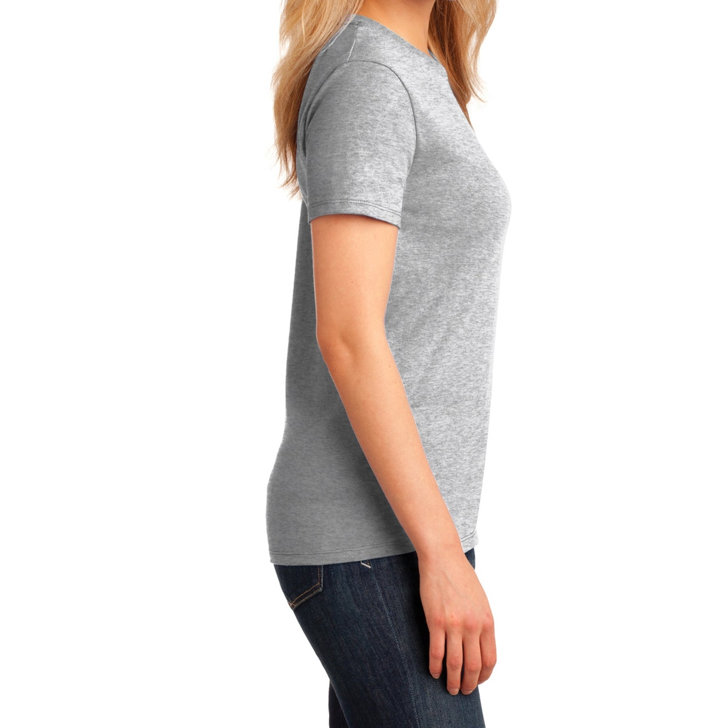 Ladies Core Cotton Tee -  Ash